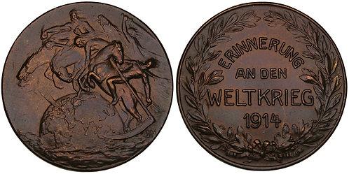 101185     GERMANY. Four Horsemen/Propaganda bronze Medal.