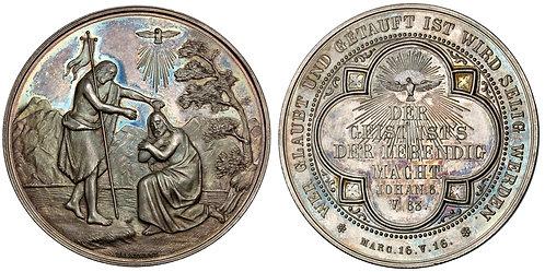 101621     GERMANY. Baptismal silver Medal.