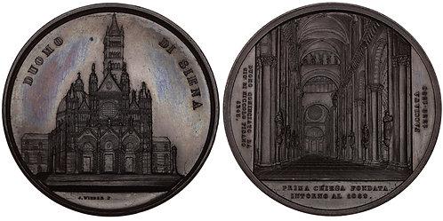 101043     ITALY. Siena. Duomo of Siena bronze Medal.