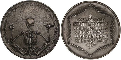 100824  |  GERMANY & GREAT BRITAIN. Satirical cast iron Medal.
