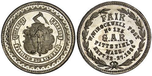 101538  |  UNITED STATES. Massachusetts. G.A.R. Fair white metal Medal.