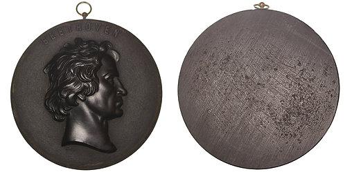 100290     GERMANY. Ludwig van Beethoven uniface bois durci Medal.