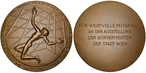 101357  |  AUSTRIA. Wien (Vienna). Antifascist Exhibition bronze Award Medal.