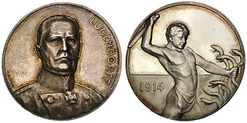 100167  |  GERMANY. General Erich Friedrich Wilhelm Ludendorff silver Medal.