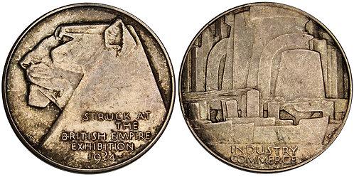 101453  |  GREAT BRITAIN. British Empire Exhibition Art Deco nickel Medal.