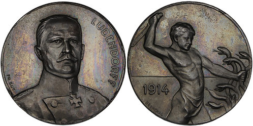 100519  |  GERMANY. General Erich Friedrich Wilhelm Ludendorff zinc Medal.