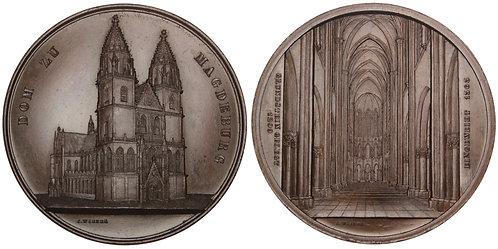 101033  |  GERMANY. Magdeburg. Cathedral of Magdeburg bronze Medal.