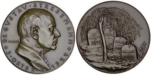 101626  |  GERMANY. Gustav Stresemann bronze Medal.