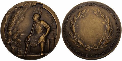 100201  |  FRANCE. Brewer's Association of Northern France bronze Medal.