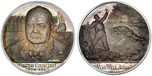101706  |  GREAT BRITAIN. Winston Churchill silver Medal.