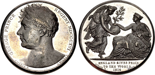 100052 | GREAT BRITAIN. Prince George white metal Medal.