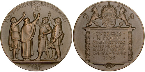 101264  |  SWEDEN. Riksdag bronze Medal.