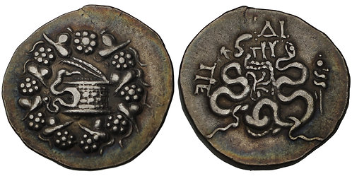 100569  |  GREEK. Mysia. Pergamon silver Cistophoric Tetradrachm.