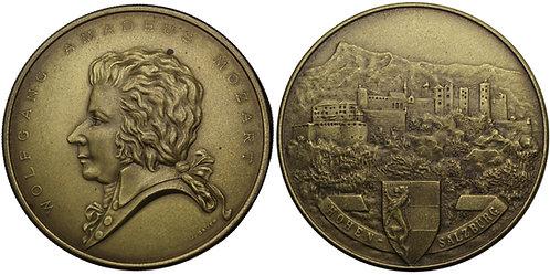 100294  |  AUSTRIA. Wolfgang Amadeus Mozart brass box Medal.