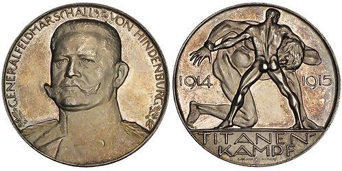 101084  |  GERMANY. Generalfeldmarschall Paul von Hindenburg silver Medal.