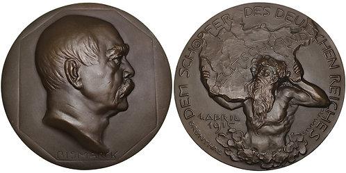 100376     GERMANY. Otto von Bismarck cast bronze Medal.