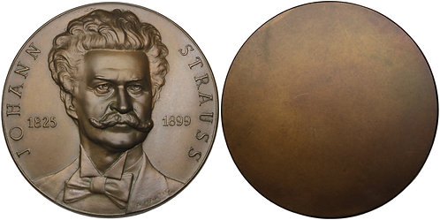 100286  |  AUSTRIA. Johann Strauss II uniface bronze Medal.