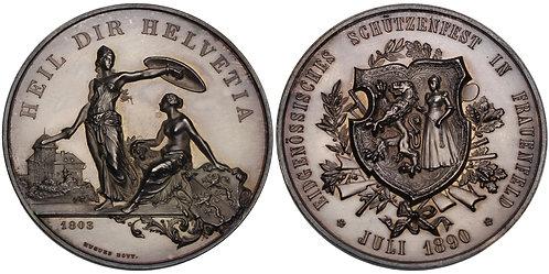 100688  |  SWITZERLAND. Frauenfeld silver Schützenmedaille (Shooting Medal).