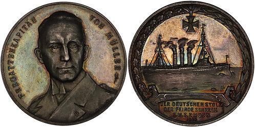 100474     GERMANY. Fregattenkapitän Karl von Müller silver Medal.