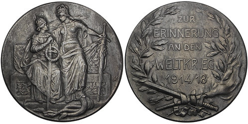 100839  |  GERMANY & AUSTRIA-HUNGARY. Propaganda zinc Medal.