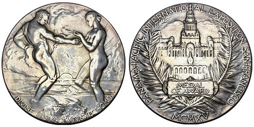 101426  |  UNITED STATES. Panama-Pacific Int'l Expo silvered bronze Award Medal.