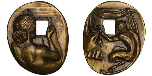 100989  |  UNITED STATES. Vanitas oval bronze Medal.