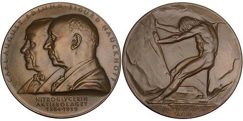 100541  |  SWEDEN. Carl August Edlund & Sigurd Nauckhoff bronze Medal.