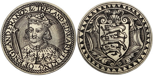 100787  |  GREAT BRITAIN. England. Edward II silver Jeton or Gaming Counter.