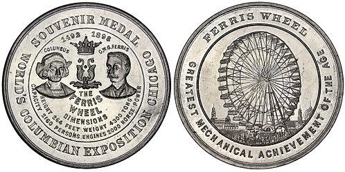101360  |  UNITED STATES. Columbian Expo/Ferris Wheel aluminum Medal.