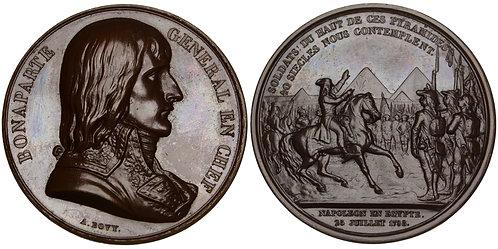 101149  |  FRANCE & EGYPT. Napoléon I bronze Medal.