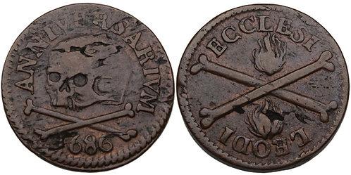 100339  |  BELGIUM. Luik (Liège). Chapter of St. Lambert's bronze Méreau.