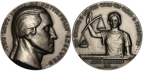 100257 | UNITED STATES. Nickel–Silver Medal. Degradation of our Justice System.
