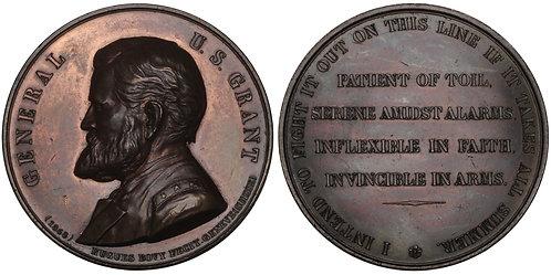 100672  |  UNITED STATES & SWITZERLAND. Ulysses S. Grant bronze Medal.