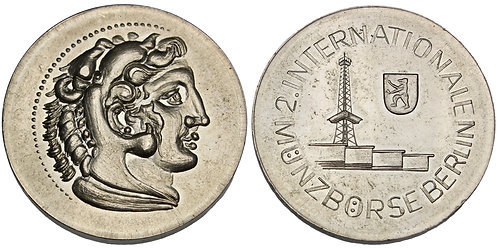 101502  |  ANCIENT INSPIRED. Greece/Germany. Alexander III silver Medal.