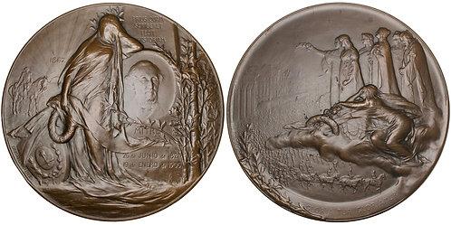 101494     ARGENTINA. Bartolomé Mitre Martínez bronze Medal.