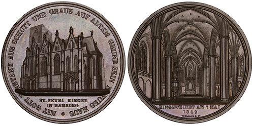 101267  |  GERMANY. Hamburg. St. Peter's Church bronze Medal.