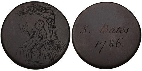 100593  |  IRELAND. Samuel Bates engraved copper Methodist Token.