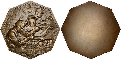 101295  |  AUSTRIA. Christmastime Truce octagonal uniface bronze Medal.