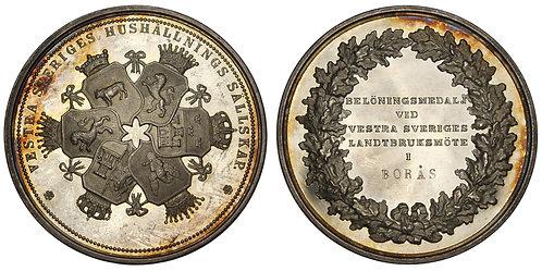101332  |  SWEDEN. Western Sweden Household Society silver award Medal.
