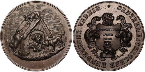 100259  |  AUSTRIA. Wien (Vienna). Dog Show bronze award Medal.