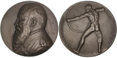 100537  |  GERMANY. Großadmiral Alfred von Tirpitz cast iron Medal.
