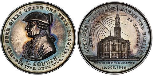 100374  |  GERMANY. Ernst Georg Sonnin silver Medal.