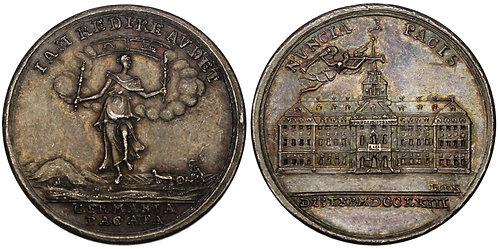 100736  |  UNITED STATES & GERMANY. Seven Years' War silver Medal.