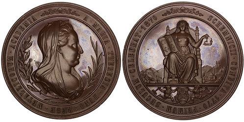 101205  |  AUSTRIA-HUNGARY. Mining Academy/Maria Theresia bronze Medal.