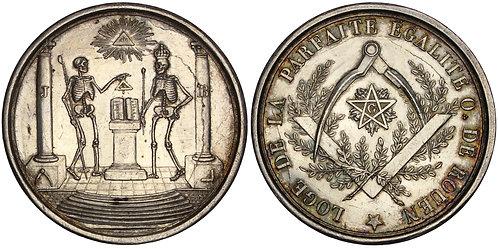 100810  |  FRANCE. Rouen. Freemasons silver Medal.