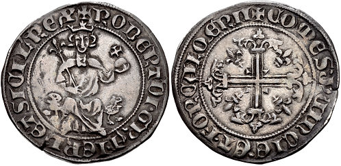 100016  |  FRANCE, Provence. Robert d'Anjou Giglat