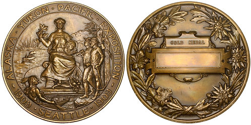 101362  |  UNITED STATES. Alaska–Yukon–Pacific Exposition bronze award Medal.