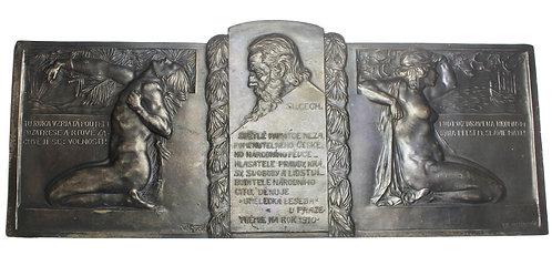 101250     CZECHOSLOVAKIA. Czech Artists' Forum cast silvered tin award Medal.