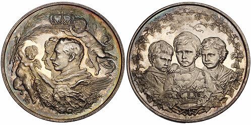 100202  |  GERMANY. Brandenburg-Prussia Wilhelm II silver Medal.