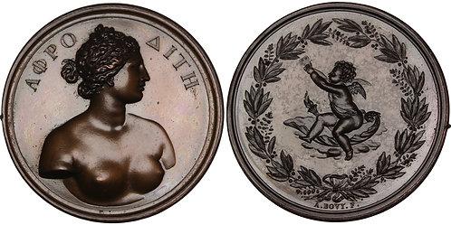100342  |  SWITZERLAND. Aphrodite bronze Medal.